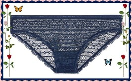 XLarge XL Navy Blue All Over Lace Lacie Nylon Victorias Secret BIKINI Pa... - $10.99
