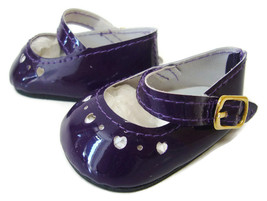 Purple Patent Shoes Heart Cutouts for Bitty Bab... - $7.56