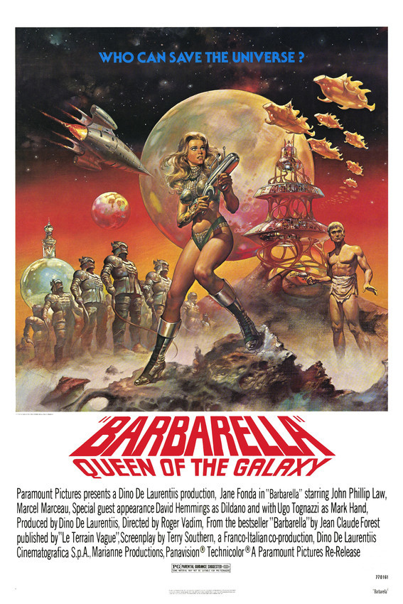 Barbarella Jane Fonda John Phillip Law Sci-Fi Classic Cult 16x20 Canvas - $69.99