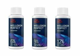Wella Welloxon Perfect Creme Developer Minis 2 oz 20, 30, 40 Volume Choose Yours - $6.97