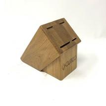 CUTCO 4 Slot Knife Block - Honey Oak Wood - Made In USA Wooden Light Color - $25.70 CAD