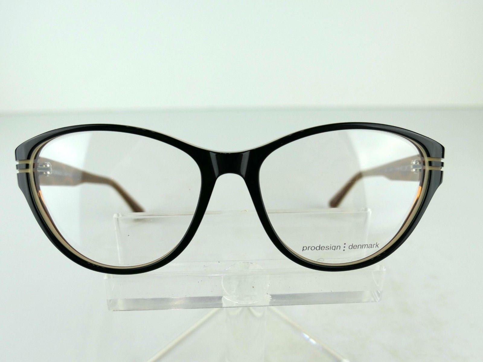 PRODESIGN DENMARK 1696 (6022) Black Shiny 55  x 16  Eyeglass Frames image 3