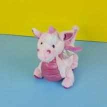 "Ganz Webkinz Whimsy Dragon HM156 Pink No Code 12"" Pastel Tie Dye Glitter... - $10.88"