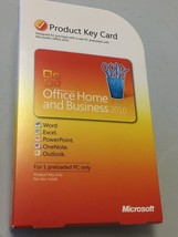 Microsoft Office 2010 Home and Business Product Key Card - GENUINE - $59.99