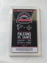 Atlanta Falcons Final Regular Season Game Georgia Dome Ticket 1/1/17 - $26.73