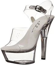 Ellie Shoes Women's 601-Brook, Clear, 8 M US - $44.61