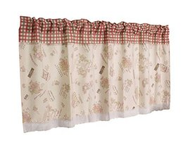 PANDA SUPERSTORE Lovely Flower Cloth Privacy Hanging Short Cafe Curtain Valance