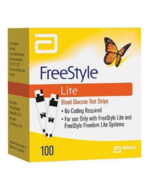 FreeStyle Lite Blood Glucose Test Strips 100 Ct 5-31-22 Diabetic Free St... - $59.99
