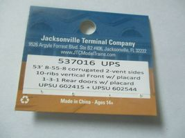 Jacksonville Terminal Company # 537016 UPS 53' 8-55-8 Container  image 4