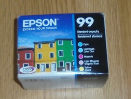 5-PACK Epson GENUINE 99 Color Ink Cartridges 2023 Cyan Magenta Yellow - $44.66