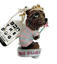 "Kurt S. Adler The Dog Resin 3"" Ornament (Flirt) - $15.00"