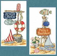 Beach Signs II cross stitch chart Imaginating - $5.40