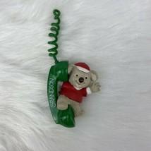 Hallmark Keepsake Ornament Grandson Bear on Phone 1993 No Box - $6.89