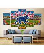 Chicago Cubs Wall Art Painting On Canvas HD Baseball Chicago Cubs Decor ... - $74.99+