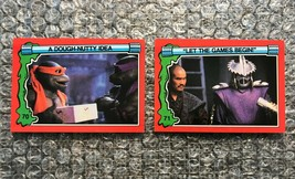 1991 Topps Teenage Mutant Ninja Turtles TMNT II Movie Cards Lot: #70 & #71 - $3.92