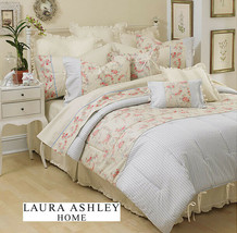 Laura Ashley Josette Rose Floral 3-PC 84 x 86 Drapery Panels and Valance - $74.00