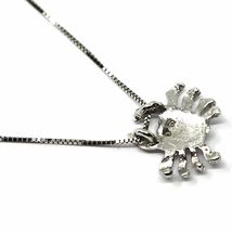 18K WHITE GOLD NECKLACE, CANCER PENDANT WITH DIAMOND AND VENETIAN CHAIN  image 3