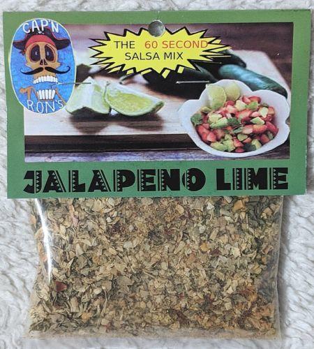 CAPN RONS Dip Addiction Sixty Second Jalapeno Lime Salsa Mix