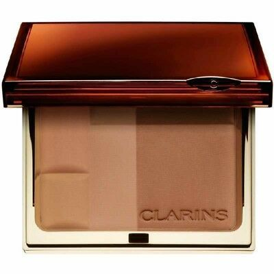 Primary image for CLARINS Bronzing Duo 03 Dark Mineral Powder Compact NIB
