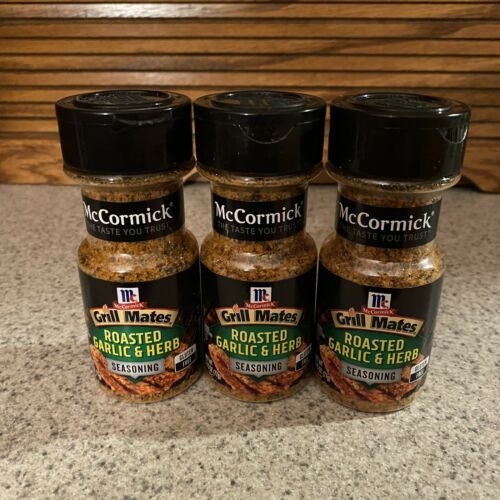 Primary image for McCormick Grill Mates Roasted Garlic & Herb Seasoning 3 Bottles BBD 04 08/21