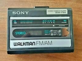 Vintage Sony Walkmann FM/AM Stereo Cassette Player WM-F44 Japan (Parts/R... - $49.45