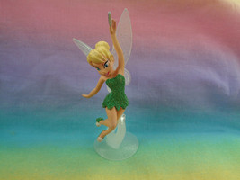 Disney Fairies Mini Tinkerbell PVC Figure Glitter Outfit & Stand - $4.90