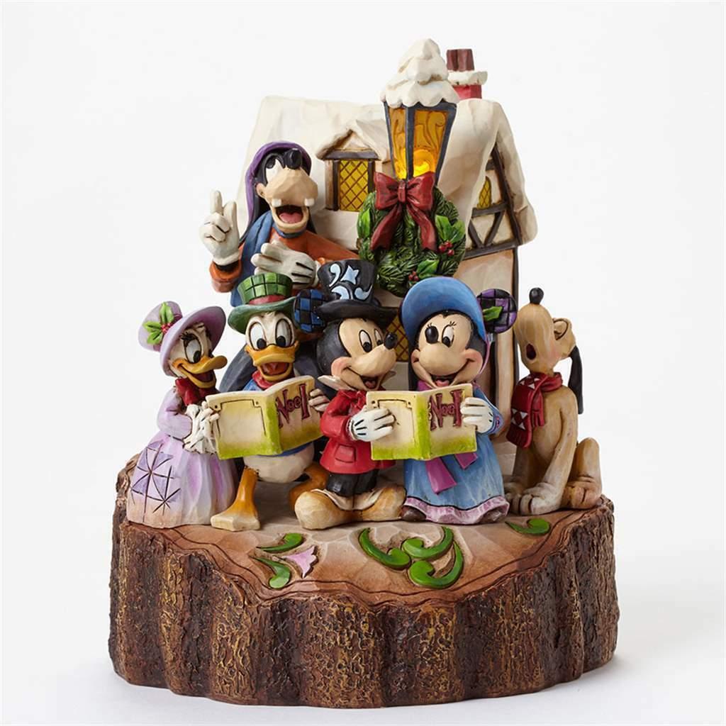 """7.25"""" """"Holiday Harmony """"Mickey, Pluto, Donald Duck- Jim Shore Disney Traditions"""
