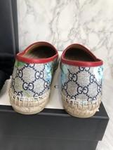 100% Authentic GUCCI MONOGRAM Slip On Logo Espadrilles Shoes Flats 37 image 8