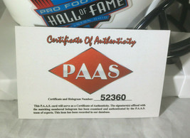 RAY LEWIS / NFL HALL OF FAME / AUTOGRAPHED HALL OF FAME LOGO MINI HELMET / COA image 7