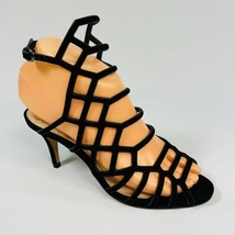 Vince Camuto Women's size 5.5M Black Leather Lattice Caged Heels Brand New - $29.69