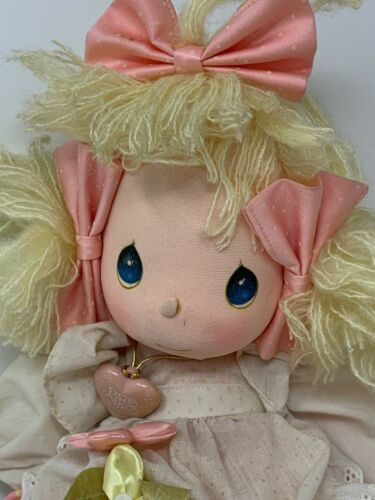 Applause Precious Moments Collectible Cloth Doll Heather #4562 with Locket image 2