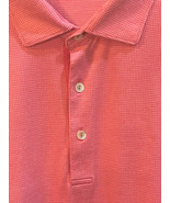 Peter Millar Crown Ease Mens XXL S/S Polo Golf Shirt Light Red Pink Tiny... - $33.54