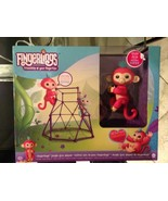 """FINGERLINGS AUTHENTIC WOWWEE Baby Monkey Toy - """"Aimee"""" (Coral Pink) - $57.79"""