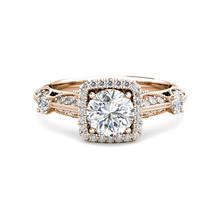 1.5 Carat G-H Diamond Fancy Halo Cushion Engagement Bridal Ring 14K Rose... - $1,907.14
