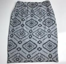 Forever 21 Women's Gray/Black Pencil Skirt Elastic Stretch Size Medium - $17.46
