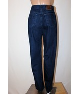 LEE RIVETED Women's Size 14/16 Indigo Blue Straight Tapered Leg Jeans 31... - $28.05
