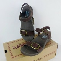 Skechers Reggai Always Strapped Sandals Chocolate Brown NEW Women's 5 Shoes - $29.92