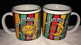 Set di 2 Myers Rum Caffè Tazza 1995 Jammin Lun Originale Scuro Rum Meyer... - $17.70