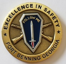 "Army Ranger Airborne Excellence In Safety Fort Benn Ang Ga Follow Me 1.75"" Coin - $98.99"