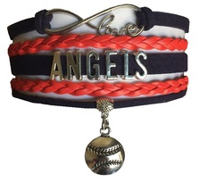 Los Angeles Angels Baseball Fan Shop Infinity Bracelet Jewelry - $11.99