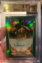 BGS 9.5 - 10 2014 Bowman Chrome GREEN REFRACTOR AUTO Willy Garcia RC #d ... - $169.26