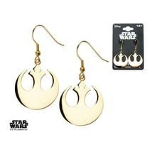 Disney Star Wars Stainless Steel Rebel Alliance Symbol Hook Dangle Earrings - $56.00