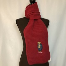 NEW POLO RALPH LAUREN Polo Bear Scarf, University Bear, Red, $65 - £39.75 GBP