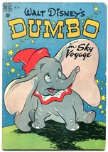 Dumbo in Sky Voyage- Dell Four Color Comics #234 1949- Disney VG+ - $55.48