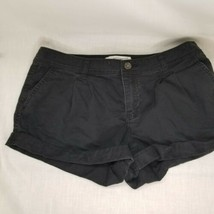 Abercrombie girls size 0 black shorts rolled cuff, front pockets Pleated... - $9.89