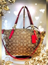 Coach Small Kelsey Satchel #36625 Gold/True RED ♡Hard To Find♡FLAWLESS♡C... - £61.75 GBP