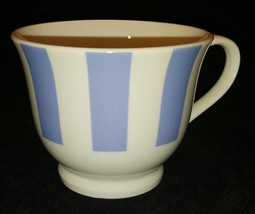 Gibson Housewares Coffee Mug Cup White Blue / Purple Stripe Pattern (3 A... - $9.49