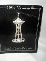 Vintage 1962 Seattle World's Fair Space Needle Pin Brooch Rhinestones  N... - $45.00