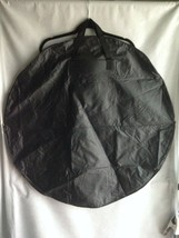 """33"""" Flat Round Black Lightweight Vinyl Tote Bag Handles New Without Pack... - $12.62"""