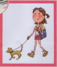 Bucilla Counted Cross Stitch Kit - So Girly - Walking the Cat  - $13.98